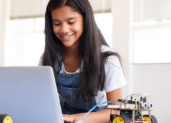 Photo of Girl Coding on Laptop